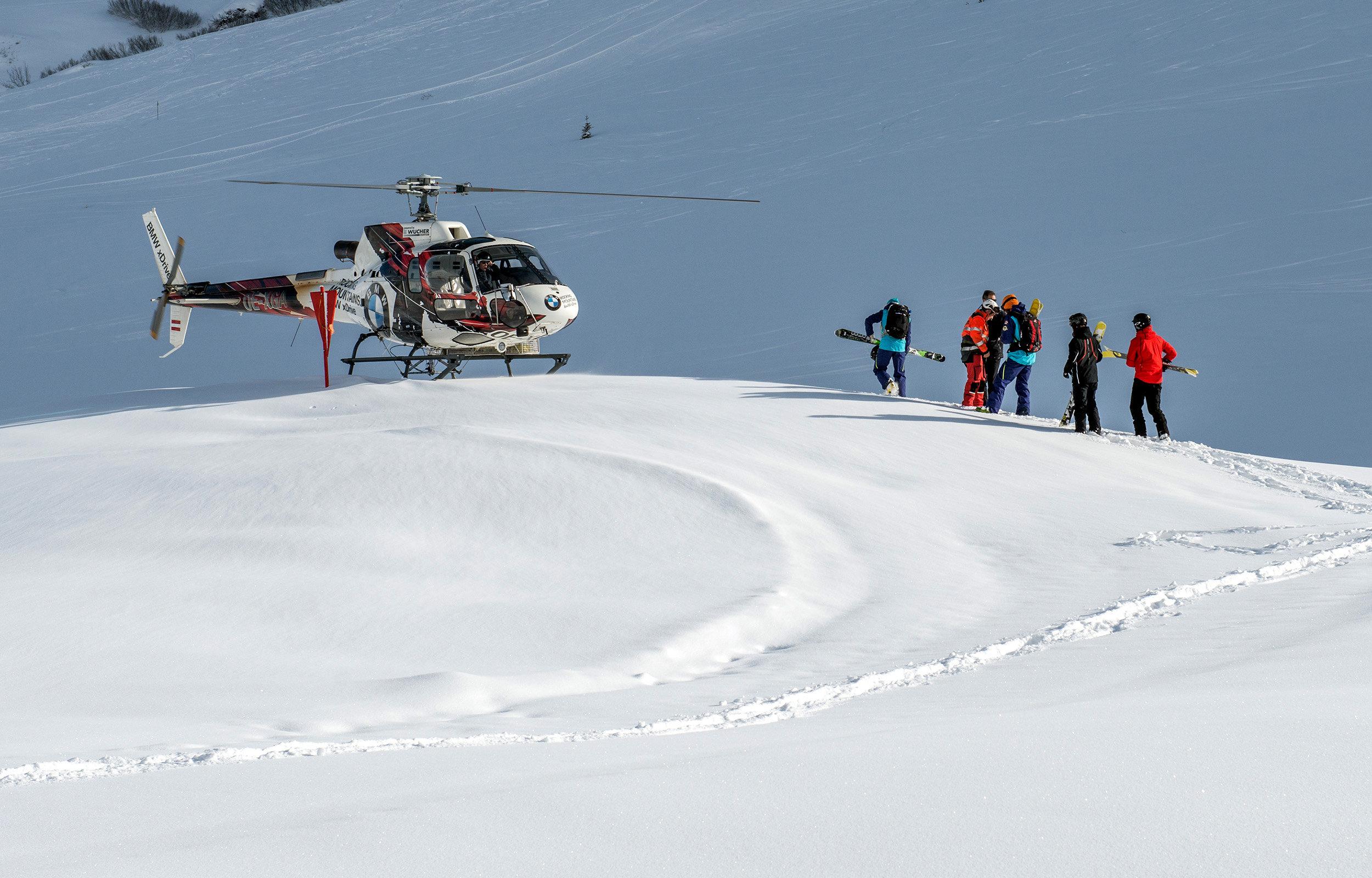 Heliskiing am Arlberg (c) Wucher2 Helikopter